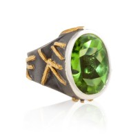 Large Peridot Ring
