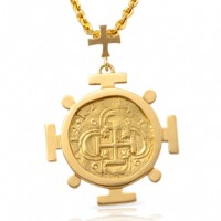 Spanish Gold Coin Pendant