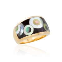 Concentric Circle Inlay Ring