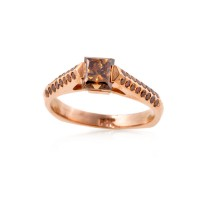 Cognac Diamond Ring