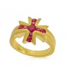Cross Ruby Ring
