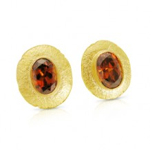 Brown Zircon Earrings