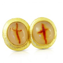 Cross Agate Earrings