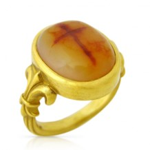 Cross Agate Ring