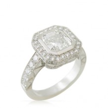 Asscher Diamond Ring