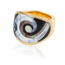 Spiral Inlay Ring