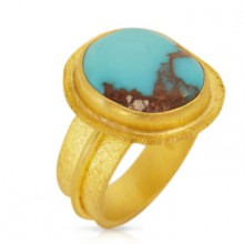 Turquoise & Gold Ring