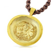 Electrum Coin Pendant