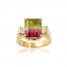 Tri-color Tourmaline Ring