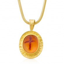 Cross Agate Pendant