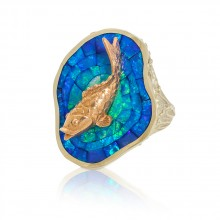 Koi & Opal Inlay Ring