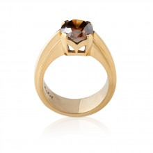 Prong Set Cognac Diamond Ring