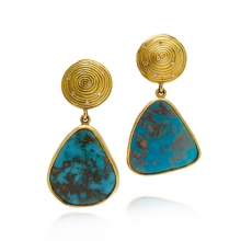 Spiral Top Turquoise Earrings