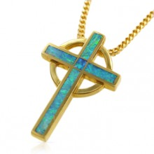 Opal Inlay Cross