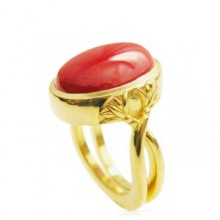 Pacific Red Coral Ring