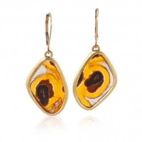 Brazilian Agate Slice Earrings