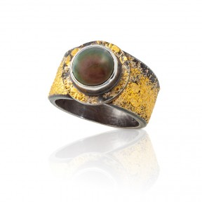 Pearl & Gold Dust Ring