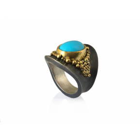 Sleeping Beauty Turquoise & Granulation Ring