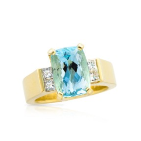 Aquamarine Riley Ring