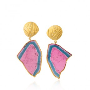 Bi-color Earrings
