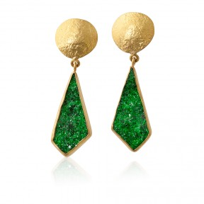 Uvarovite Dangle Earrings