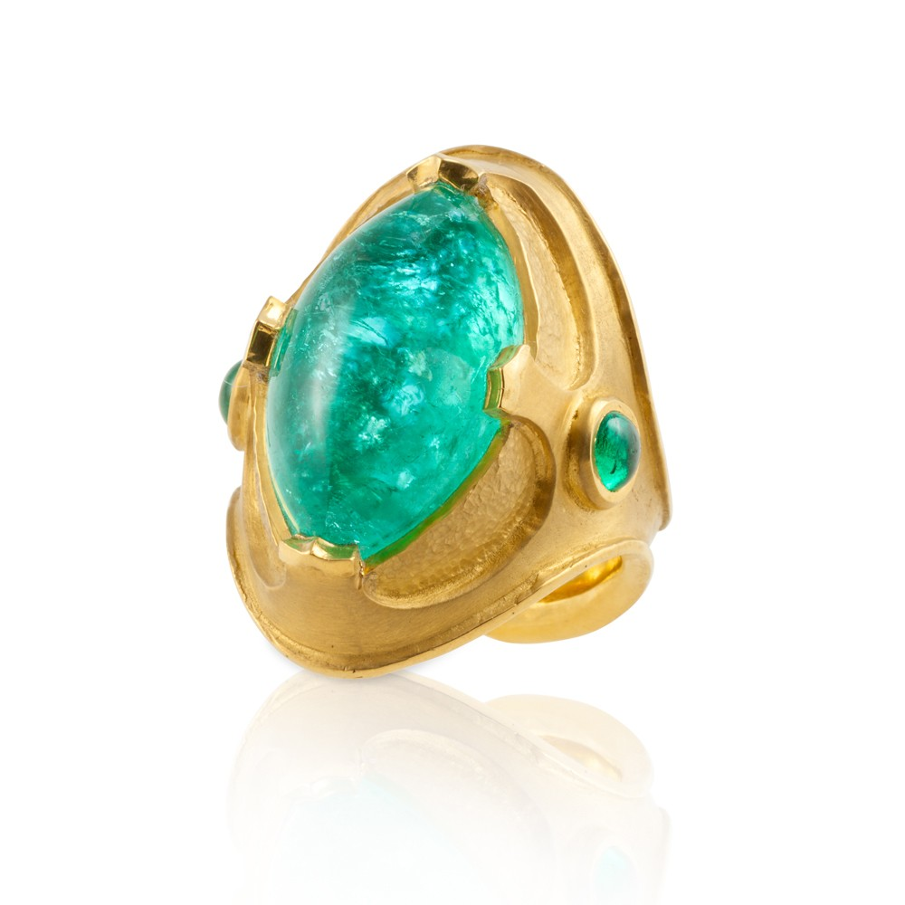 Paraiba And 22 Karat Ring Fairchild Amp Co