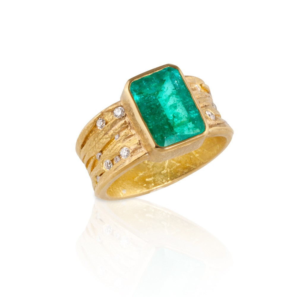 Emerald Cut Paraiba Ring Colored Gemstones Jewelry